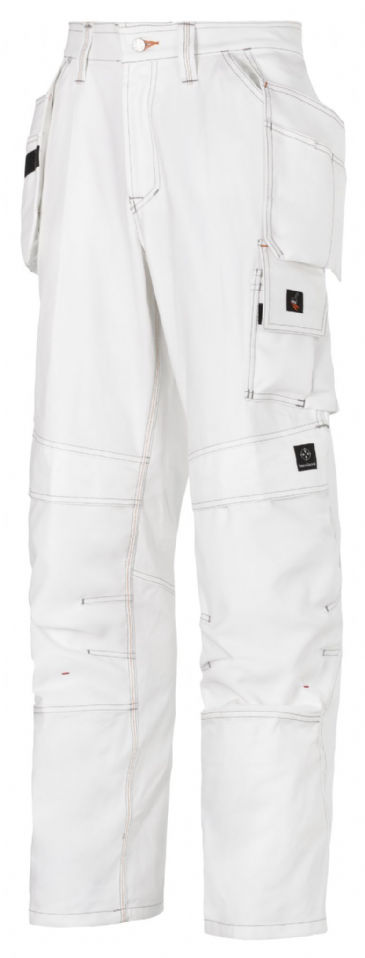 Snickers 3275 Painter's Holster Pocket Trousers (White / White)